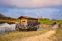 Old wooden cabin on the water