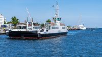 The ferry in Warnemuende, Mecklenburg-Western Pomerania, Germany