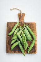 Closeup of peas