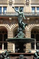Hamburg, City Hall, Hygieia-Fountain, Germany
