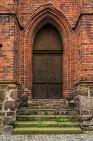 Old doors in the Gothic style.