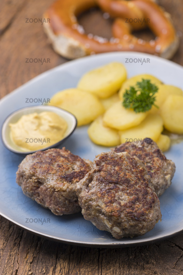 Bavarian meatballs with potato salad