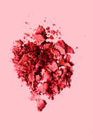 Beauty and makeup flatlay design, mineral organic eyeshadow as powder cosmetics, blush or crushed cosmetic product as make-up background