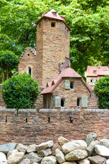 Model castle in Stecklenberg Harz Mountains
