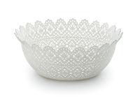 White empty plastic fruit bowl