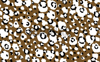 Abstract modern leopard seamless pattern. Animals trendy background. Brown and black decorative vector stock illustration for print, card, postcard, fabric, textile. Modern ornament of stylized skin