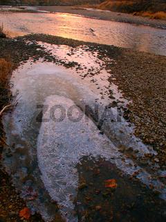 Sunset Light on Ice
