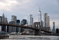 Iconic View of New York City with Brooklyn Bridge
