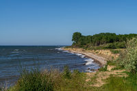 Baltic Sea coast in Meschendorf, Mecklenburg-Western Pomerania, Germany
