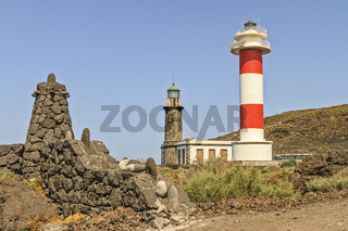 Rock Pillar and Lighthouses At El Faro Santa Cruz La Palma Spain