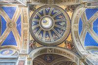 Dome of the Church of S. Agostino in Campo Marzio near Piazza Navona in Rome