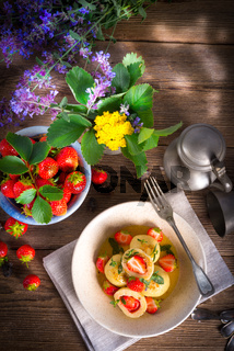 dumplings with strawberries