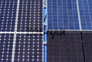 Verschiedene Solarpanelen