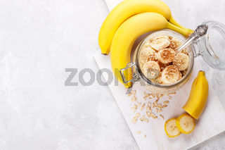 Healthy breakfast with old fashioned oats