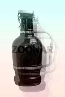 Alte Bierflasche abstrakt