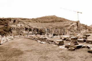 Das Grosse Theater  Ephesus sepia