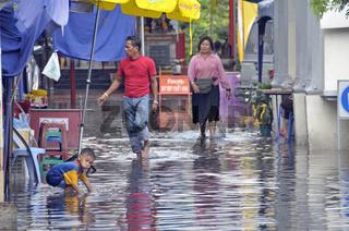 Bangkok unter Wasser