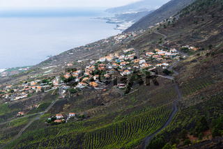 Volcanic landscape in Fuencaliente, La Palma, Canary Islands
