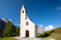 Alpini chapel San Maurizio at Gardena Pass, South Tyrol