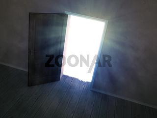 door leading to light