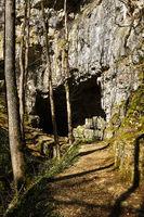 Falkensteiner cave on the swabian alps, germany