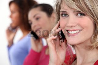 Women on the phone