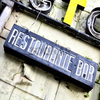 Deserted restaurant
