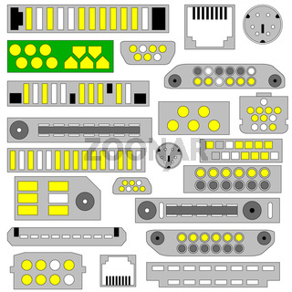 video, audio and telephone connectors