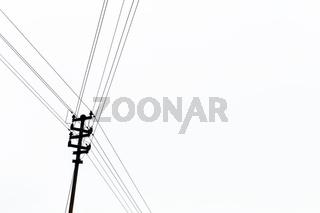 Strommasten für Lichtstrom