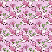 Magnolia Flowers, Seamless