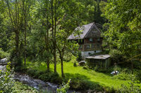 old house on the wild Gutach near Simonswald in the Black Forest