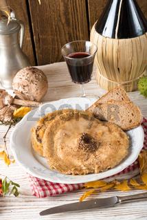 roasted parasol mushroom