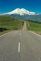 Road leading to mount Elbrus