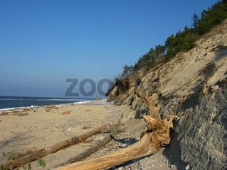 Miedzyzdroje, Strand an der Steilküste