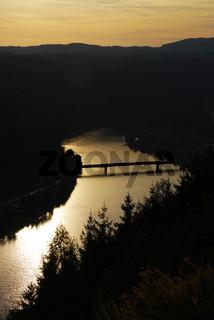 Flußbiegung der Donau