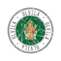 Ulvila city postal rubber stamp