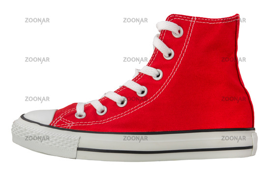 Isolated Retro Red Sneaker
