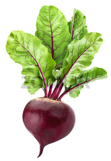 Beetroot isolated on white background with clipping path