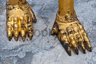 Female Garuda feet in Grand Palace Bangkok Thailand