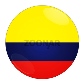 Colombia button with flag