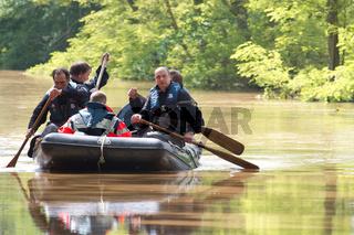 Hochwasser in Sachsen, Deutschland