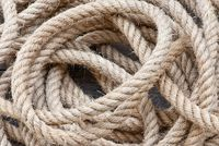 Big navy rope