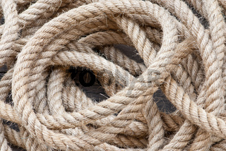 Big navy rope