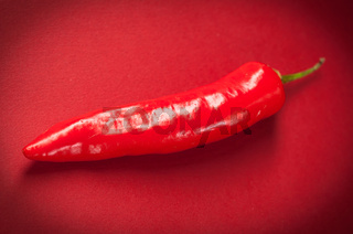 Red long chili pepper