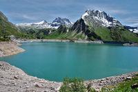 Spullersee im Lechquellengebirge, Vorarlberg, Österreich