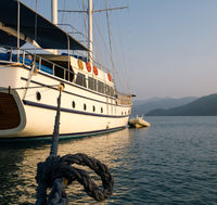 View of a beautiful yacht in Turkey