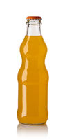 orange soda water bottle