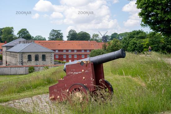 Cannon at Kastellet Fortress in Copenhagen, Denmark