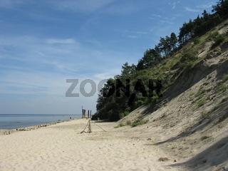 Steilküste  auf der Insel Wolin