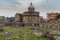 Cityscape image of famous ancient roman forum in Rome, Italy.